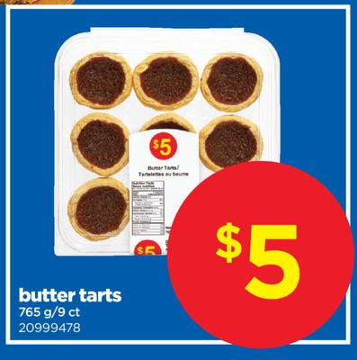 Butter Tarts - 765 G/9 Ct
