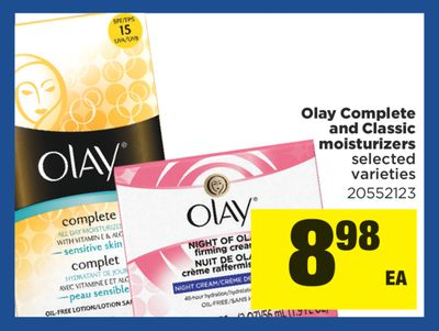 Olay Complete And Classic Moisturizers