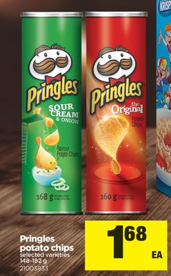 Pringles Potato Chips - 148-182 g