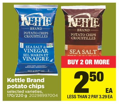 Kettle Brand Potato Chips - 170/220 g