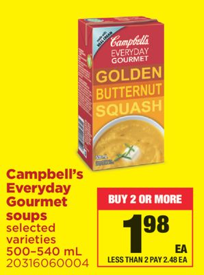 Campbell's Everyday Gourmet Soups - 500–540 mL