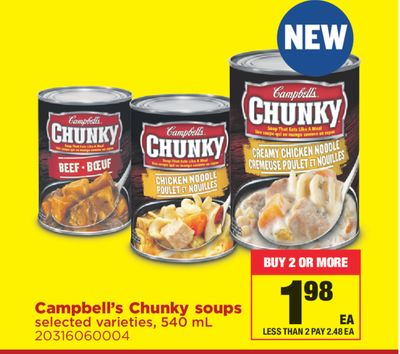 Campbell's Chunky Soups - 540 mL