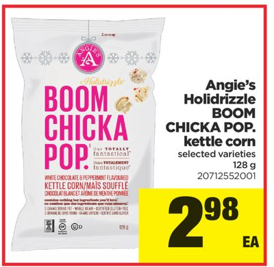 Angie's Holidrizzle Boom Chicka Pop. Kettle Corn - 128 g