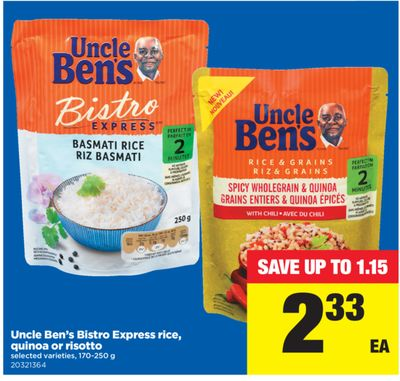 Uncle Ben's Bistro Express Rice - Quinoa Or Risotto.170-250 g