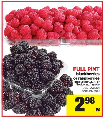 Blackberries Or Raspberries - Full Pint