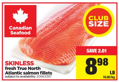 Fresh True North Atlantic Salmon Fillets