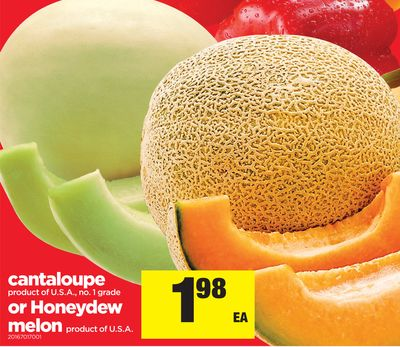Cantaloupe Or Honeydew Melon
