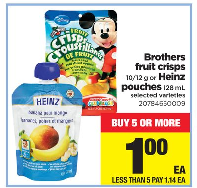 Brothers Fruit Crisps 10/12 G Or Heinz Pouches 128 Ml