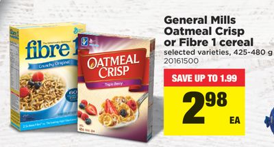 General Mills Oatmeal Crisp Or Fibre 1 Cereal - 425-480 g