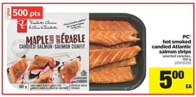 PC Hot Smoked Candied Atlantic Salmon Strips - 150 g