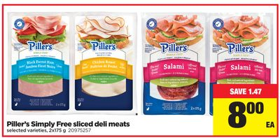 Piller's Simply Free Sliced Deli Meats - 2x175 g