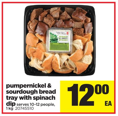 Pumpernickel & Sourdough Bread Tray With Spinach Dip - 1 Kg