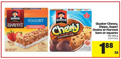 Quaker Chewy - Dipps - Super Grains Or Harvest Bars Or Squares - 150-300 g