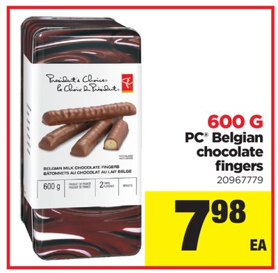 PC Belgian Chocolate Fingers - 600 G