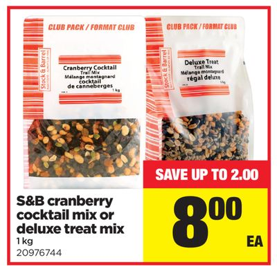 S&b Cranberry Cocktail Mix Or Deluxe Treat Mix - 1 Kg