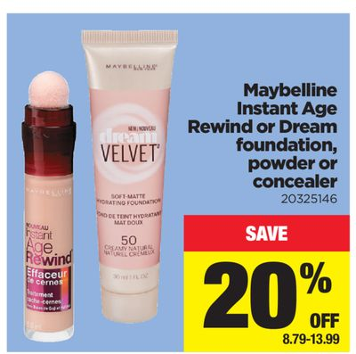 Maybelline Instant Age Rewind Or Dream Foundation - Powder Or Concealer