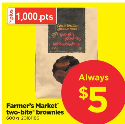 Farmer's Market Two-bite Brownies - 600 g