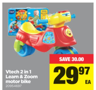 Vtech 2 In 1 Learn & Zoom Motor Bike