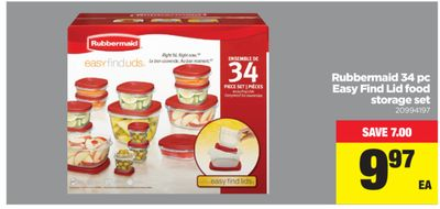 Rubbermaid 34 PC Easy Find Lid Food Storage Set