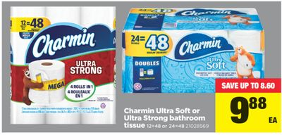 Charmin Ultra Soft Or Ultra Strong Bathroom Tissue - 12=48 or 24=48