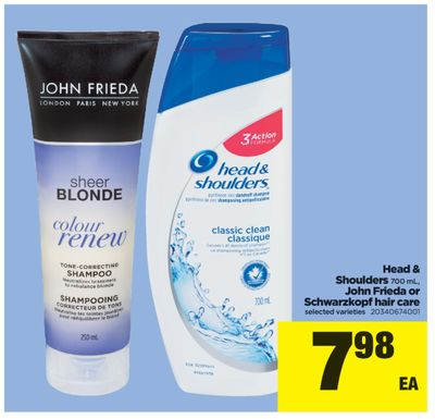 Head & Shoulders - 700 Ml - John Frieda Or Schwarzkopf Hair Care