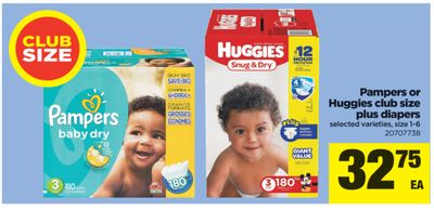 Pampers Or Huggies Club Size Plus Diapers - Size 1-6
