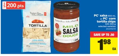 PC Salsa - 650 Ml Or PC Corn Tortilla Chips - 320-350 g