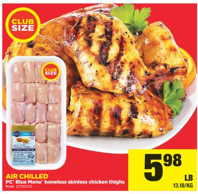 PC Blue Menu Boneless Skinless Chicken Thighs