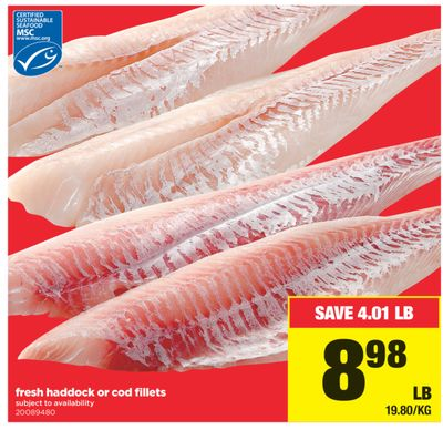 Fresh Haddock Or Cod Fillets