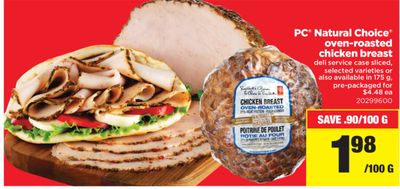 PC Natural Choice Oven-roasted Chicken Breast