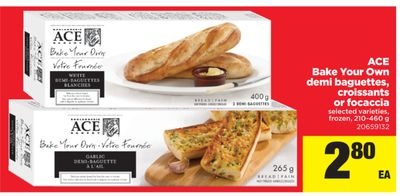 Ace Bake Your Own Demi Baguettes - Croissants Or Focaccia - 210-460 g