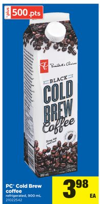 PC Cold Brew Coffee - 900 mL