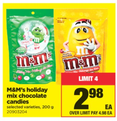 M&m's Holiday Mix Chocolate Candies - 200 g