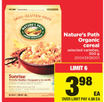 Nature's Path Organic Cereal - 300 G