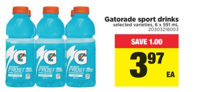 Gatorade Sport Drinks - 6 X 591 mL