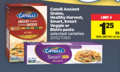 Catelli Ancient Grains - Healthy Harvest - Smart - Smart Veggie Or Bistro Pasta
