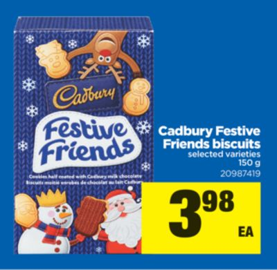 Cadbury Festive Friends Biscuits - 150 g