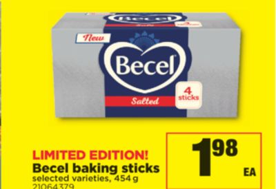 Becel Baking Sticks - 454 g