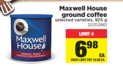 Maxwell House Ground Coffee - 925 g