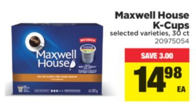 Maxwell House K-cups - 30 Ct