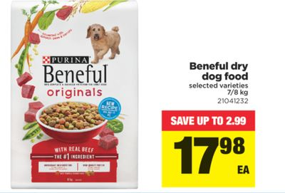 Beneful Dry Dog Food - 7/8 Kg