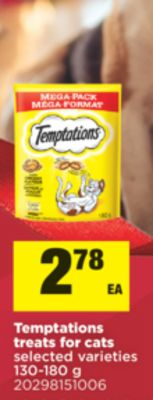 Temptations Treats For Cats - 130-180 g