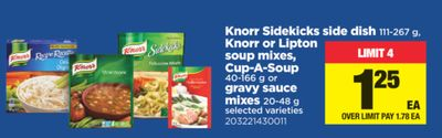 Knorr Sidekicks Side Dish 111-267 G - Knorr Or Lipton Soup Mixes - Cup-a-soup 40-166 G Or Gravy Sauce Mixes 20-48 G
