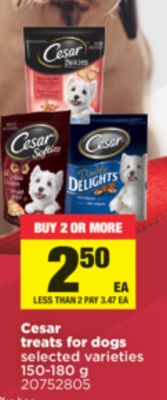 Cesar Treats For Dogs - 150-180 g