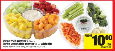 Large Fruit Platter 2.2 Kg Or Large Vegetable Platter 1.8 Kg With Dip