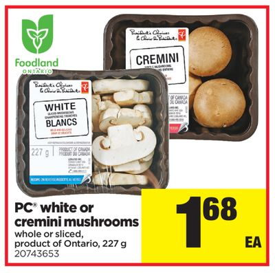 PC White Or Cremini Mushrooms - 227 g