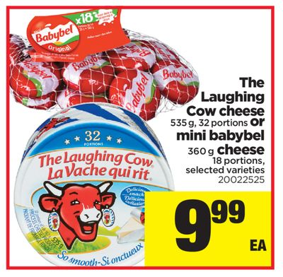 The Laughing Cow Cheese 535 g - 32 Portions Or Mini Babybel - 360 g Cheese 18 Portions
