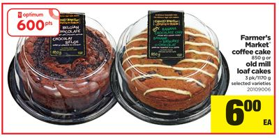Farmer's Market Coffee Cake - 850 g Or Old Mill Loaf Cakes - 3 Pk/1170 g