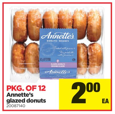 Annette's Glazed Donuts - Pkg Of 12