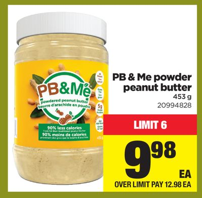 Pb & Me Powder Peanut Butter - 453 G